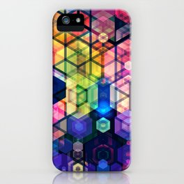 Monstrously colorful elementary particles iPhone Case