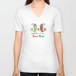 Snow Birds Unisex V-Neck