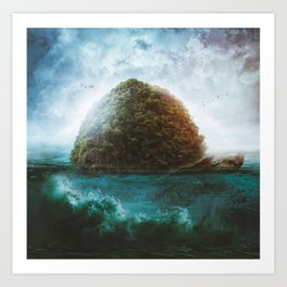 Turtle Island by GEN Z Art Print