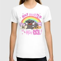 mew T-shirts featuring A MEW-ricle! by Owlies Goods