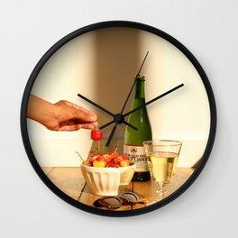 poppin cherries Wall Clock
