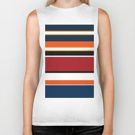 Abstraction . Striped colorful pattern . Biker Tank