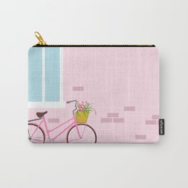 Vintage pink bicycle Carry-All Pouch