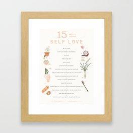 Lee From America- 15 Ways to Self Love Framed Art Print