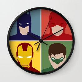Minimalist Heroes Wall Clock
