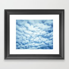 Swiftly Across the Sky Framed Art Print