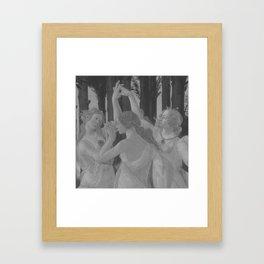 Black White Primavera Framed Art Print
