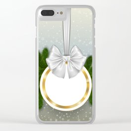 Christmas tag Clear iPhone Case