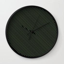 Kale and Black Stripe Wall Clock