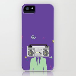 Funk Boombox Man Party iPhone Case