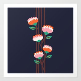Benoít Flowers Art Print