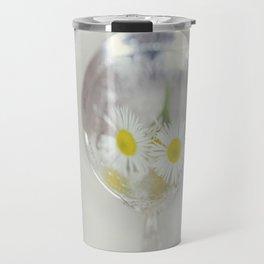 Vintage Spoon and White Flower Travel Mug