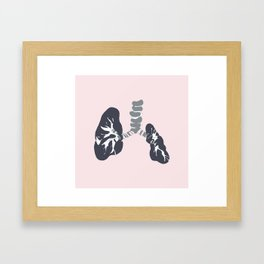 Abstract Lungs Framed Art Print