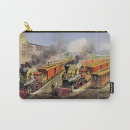 American Railroad Scene (Currier & Ives) Carry-All Pouch