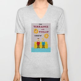 The Terrance and Phillip Show Poster Unisex V-Neck