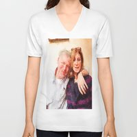 karen V-neck T-shirts featuring Mike and Karen by Jose Luis