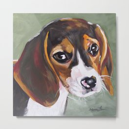 Beagle Pet Art Metal Print