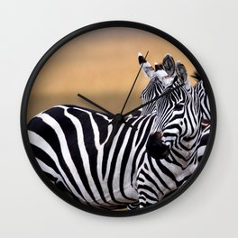 Sunset Strip & Stripes Wall Clock