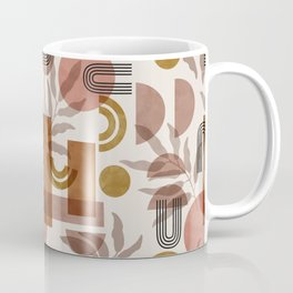 Modern geometric pattern leaves Coffee Mug