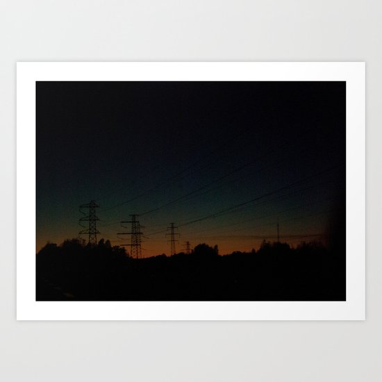 Wired road Art Print