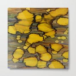 drops of yellow Metal Print