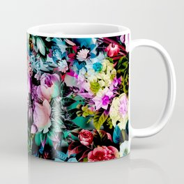 Multicolor Floral Pattern Coffee Mug