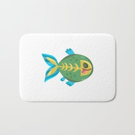 Cute Piranha Bath Mat
