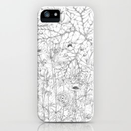 Anemone & Ranunculus iPhone Case