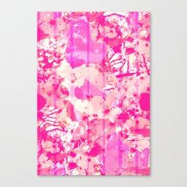 Cherry Bomb Stripe Canvas Print