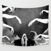 witchcraft Wall Tapestries featuring Witchcraft by Merwizaur