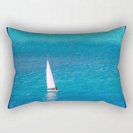 Perfect Blue Sailing Day Rectangular Pillow