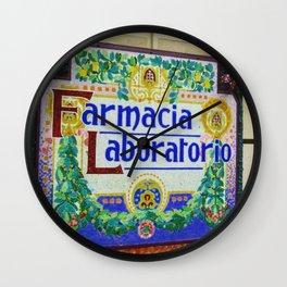 Farmacia Laboratorio Wall Clock