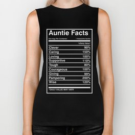 auntie facts clever caring loving supportive tough courageous giving pamering wise boyfriend Biker Tank