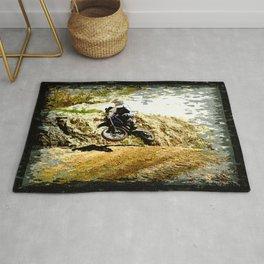 Dirt-bike Racer Rug