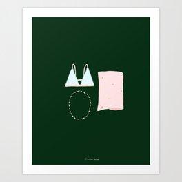 Essentials - Underwear Pretty Things - Illustration print girls  Art Print