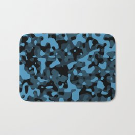 Dark Blue Camo Bath Mat