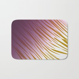 wild lines pink with gold Bath Mat
