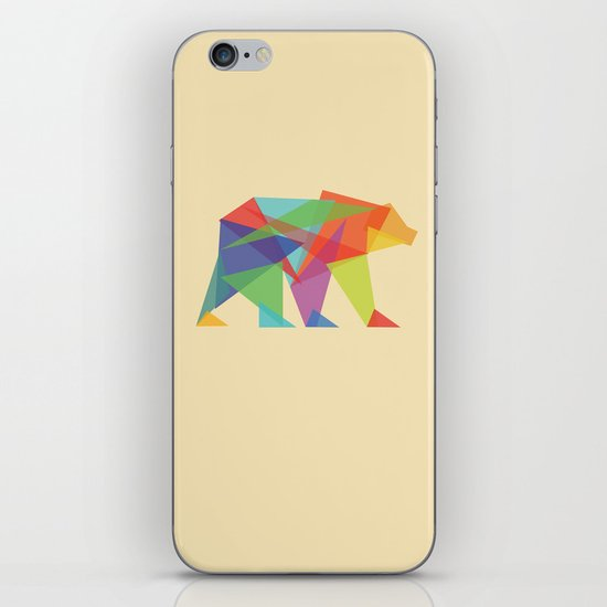 Fractal Geometric bear iPhone & iPod Skin