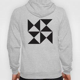 Geometric Pattern #45 (black white triangles) Hoody