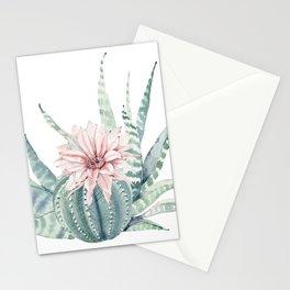 Petite Cactus Echeveria Stationery Cards