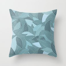 My dancing blue leaves.  Throw Pillow