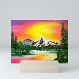 Sunset Mountains Mini Art Print