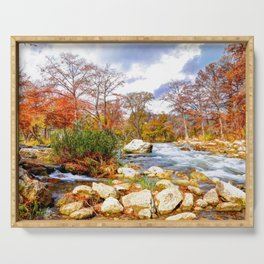 Guadalupe River Serving Tray