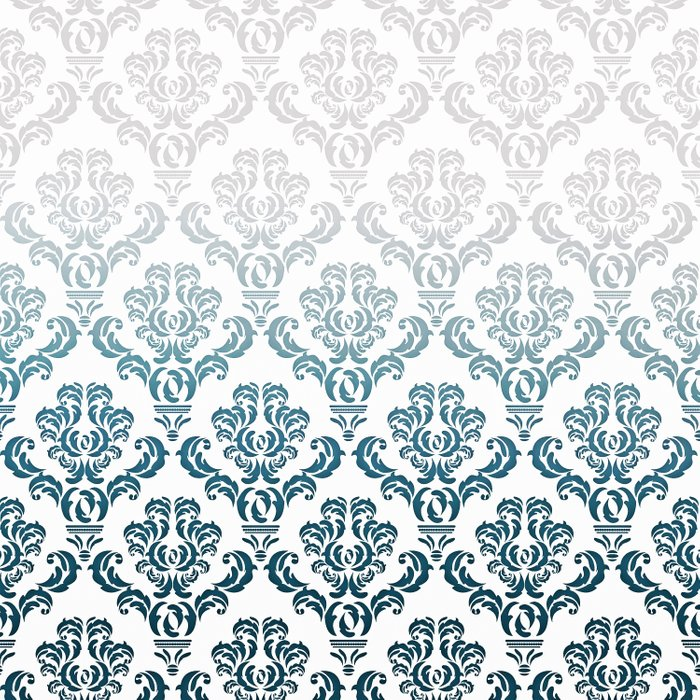 DAMASK GREY TO TEAL Comforters