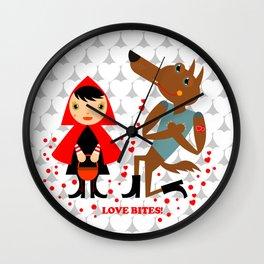 Love bites Wall Clock