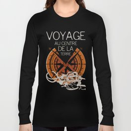 Books Collection: Jules Verne Long Sleeve T-shirt