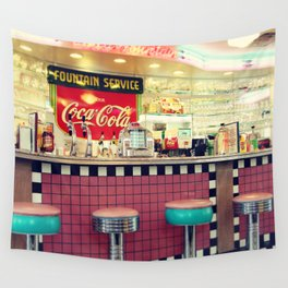 retro diner Wall Tapestry