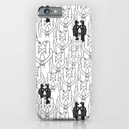 Give me a hug (white pattern) iPhone Case
