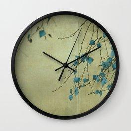 Tree in blue Wall Clock