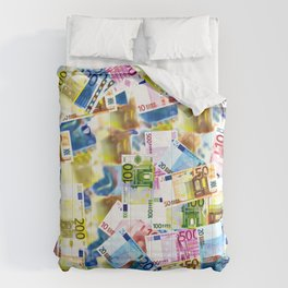 Bold Colorful Euros Pattern - Money - LOA - Abundance - Cash Comforters